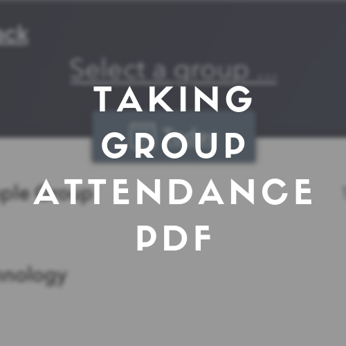 Taking group attendance through the mobile app.