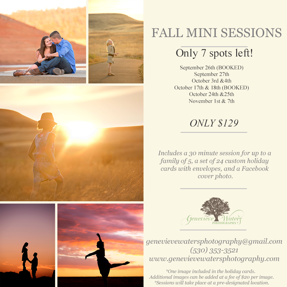 Oroville Photographer | Fall Mini Sessions | Genevieve Waters Photography