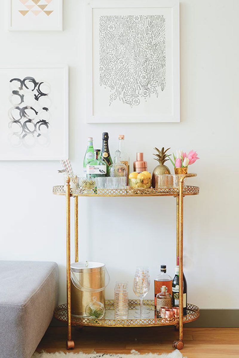 Bar Cart Styling The Habitat Collective Miami Residential Interior Design Firm