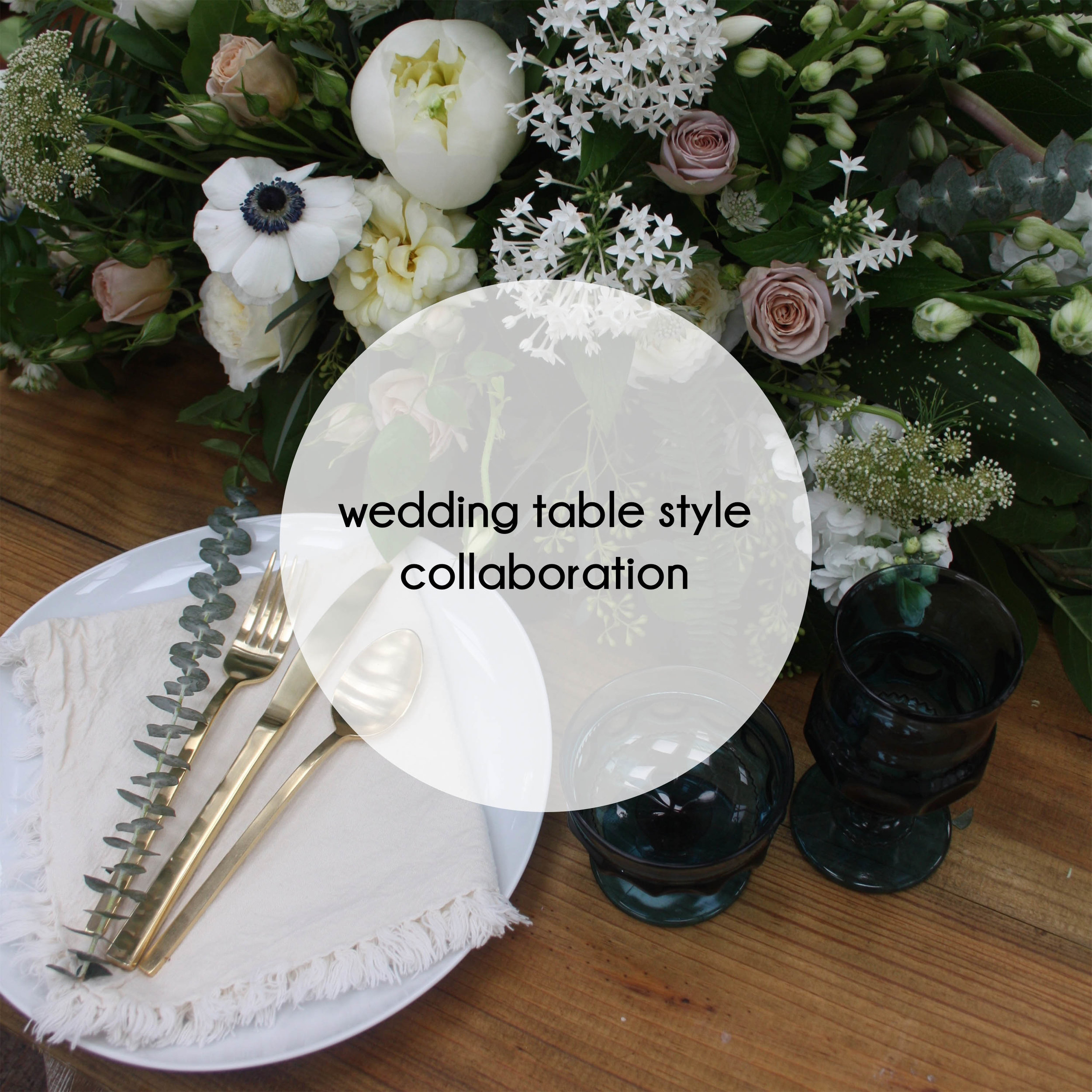 button wedding table styling