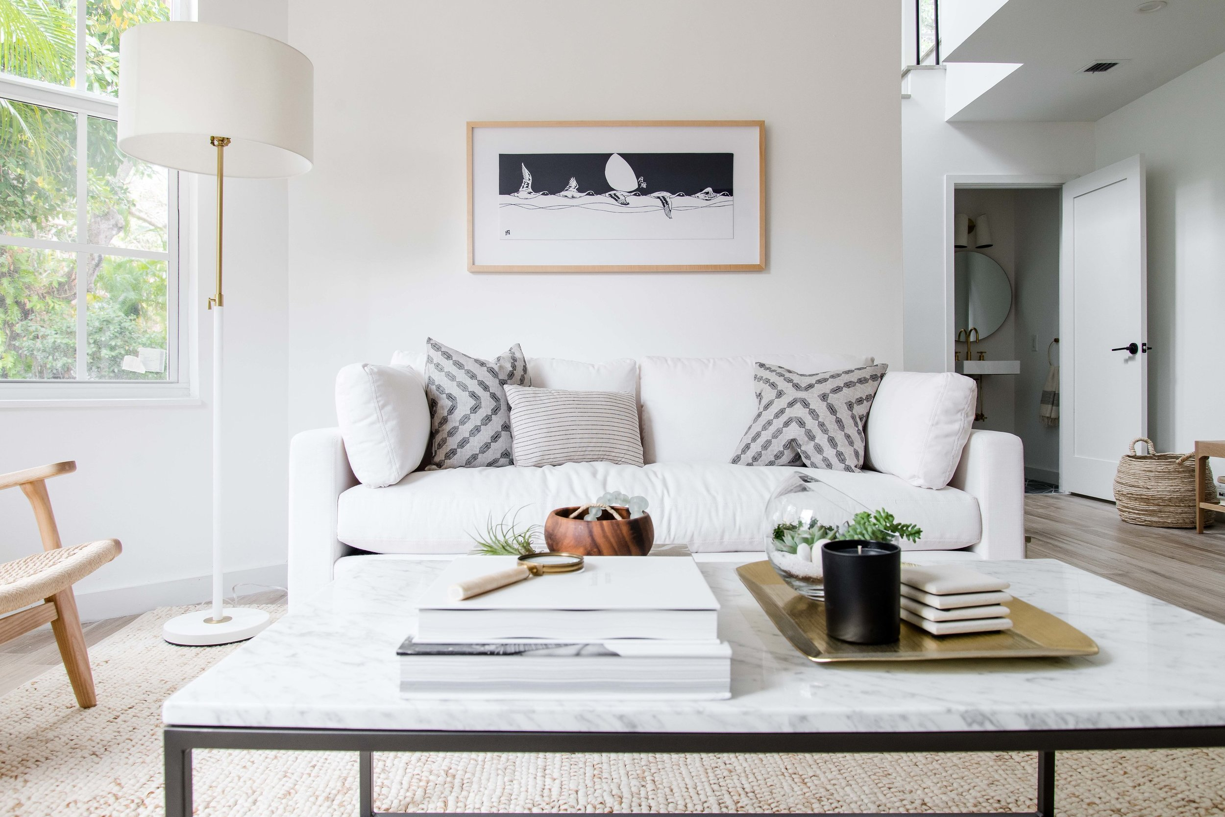 modern neutral living room  - the habitat collective interior design - #projectpeachy