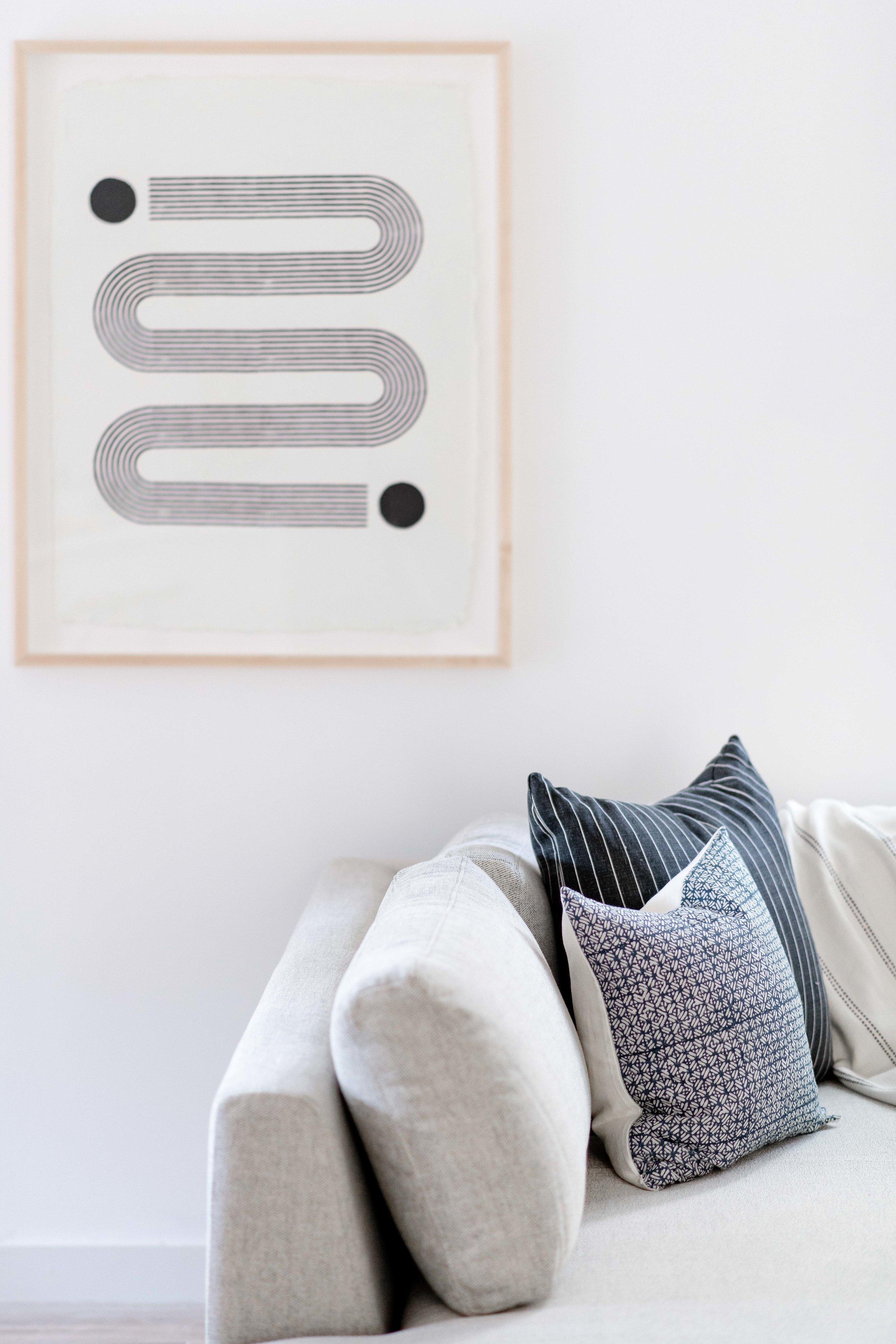 block print artwork - the habitat collective interior design - #projectpeachy