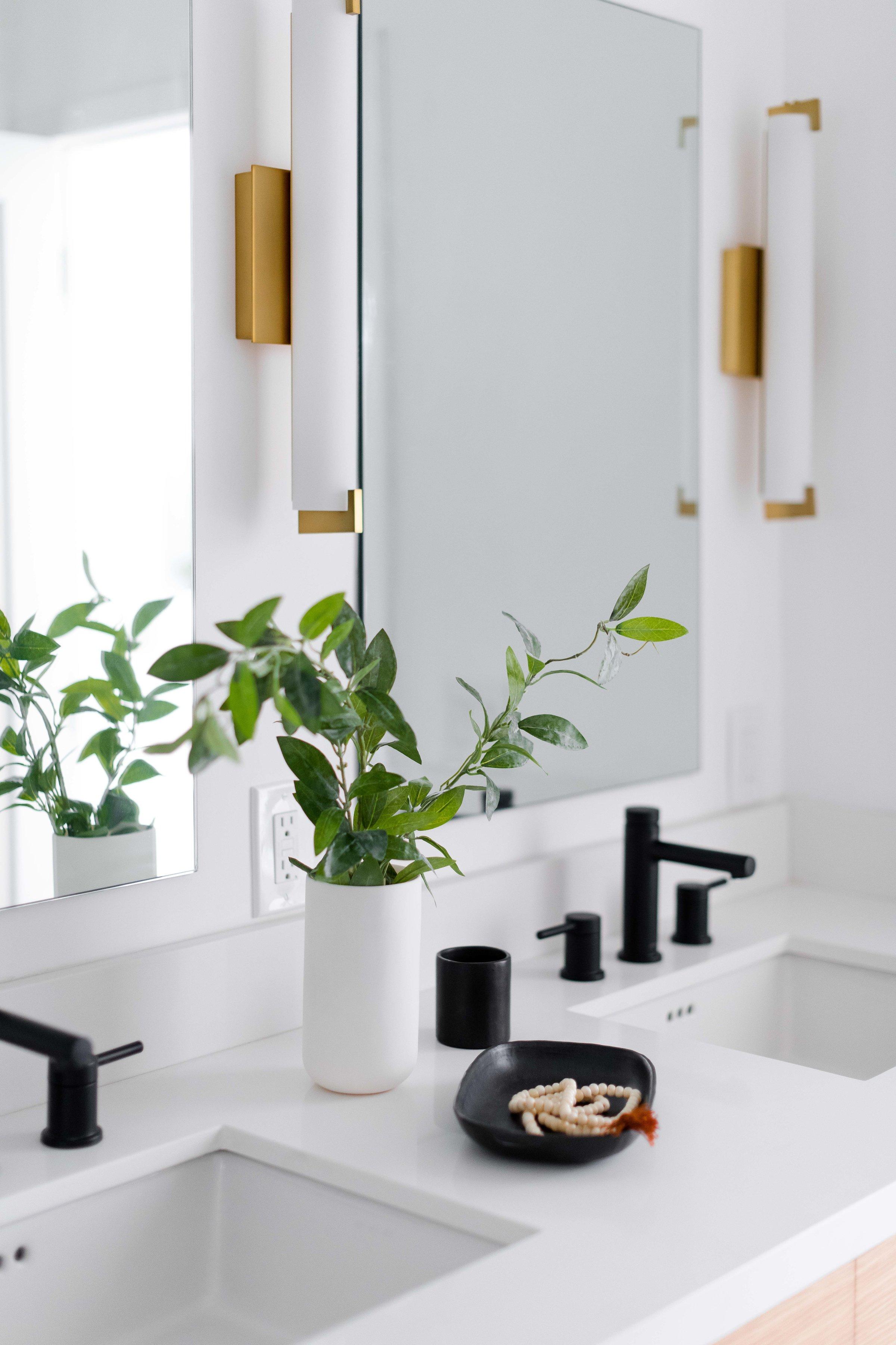 brass bathroom sconces - the habitat collective interior design - #projectpeachy
