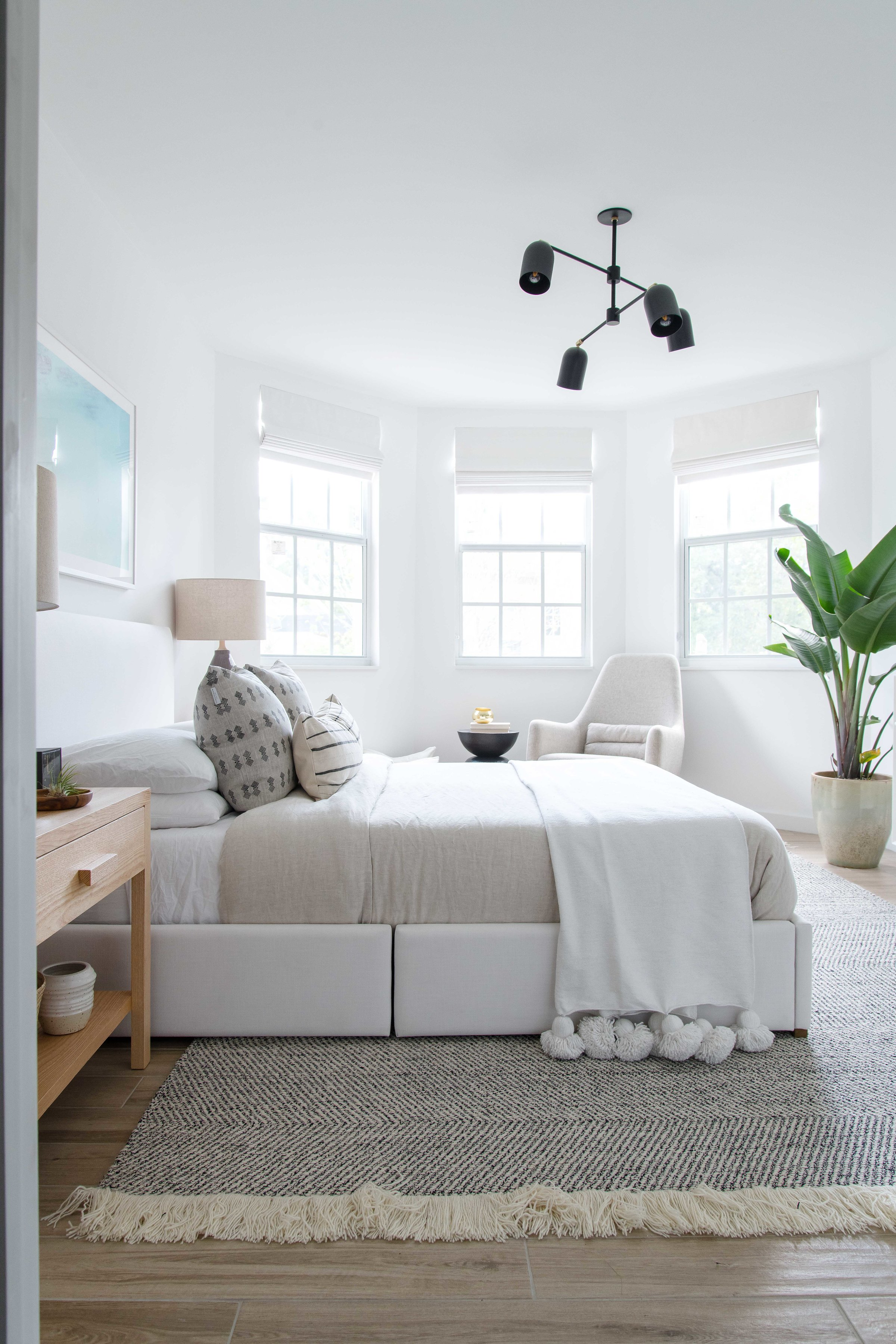bright and airy neutral master bedroom - the habitat collective interior design - #projectpeachy