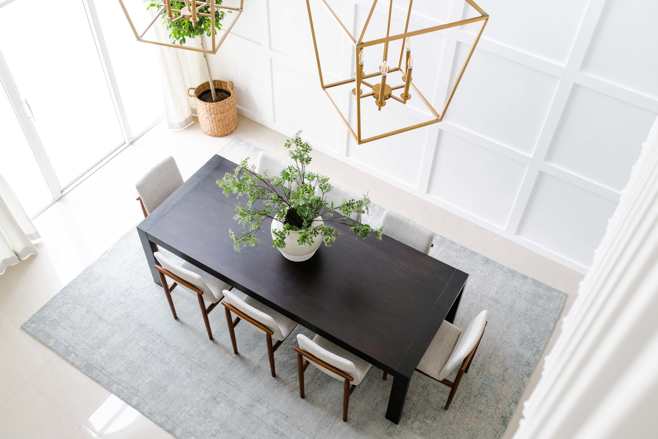 pembroke pines dining room - the habitat collective - interior design