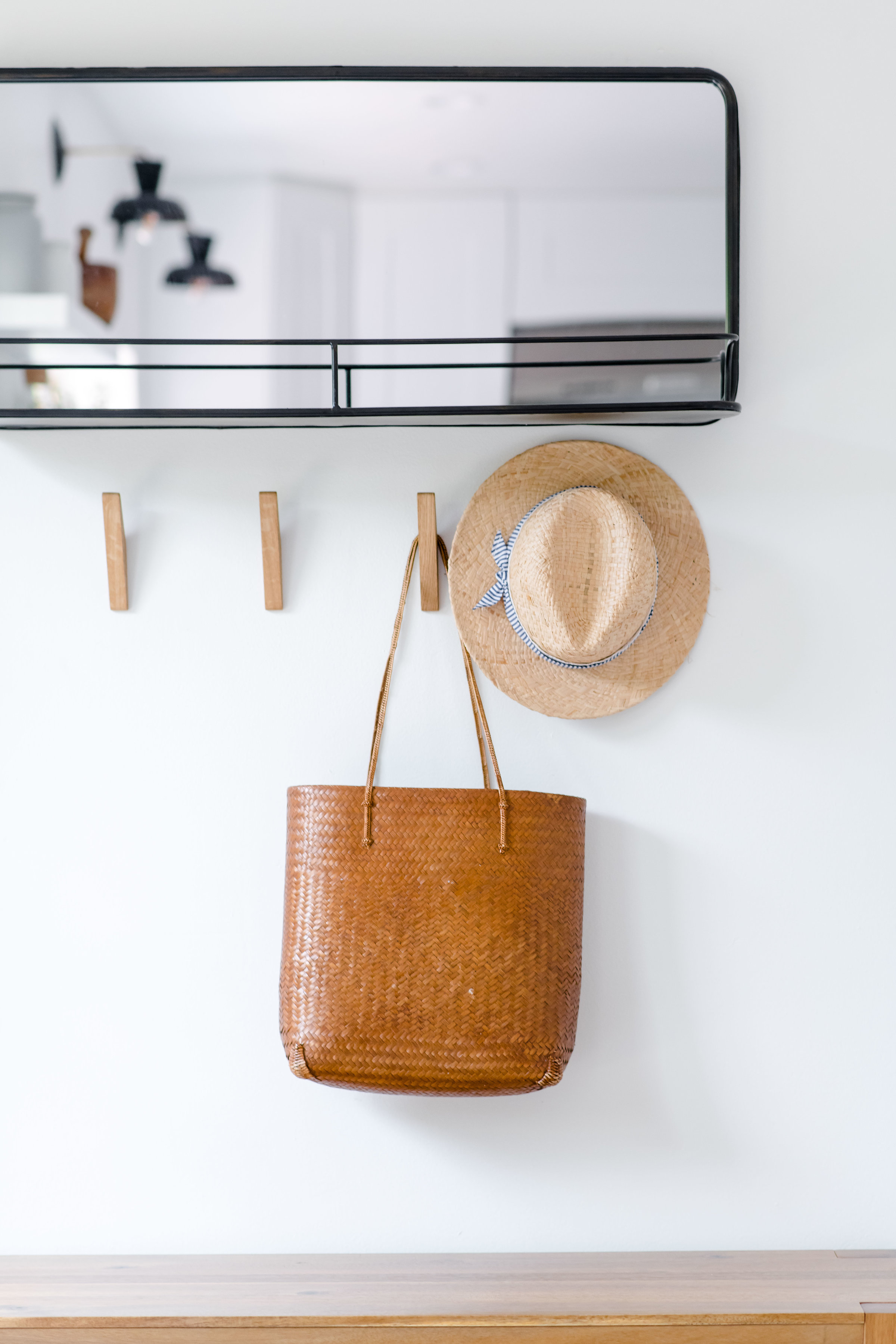 modern entryway hooks - the habitat collective - project casinha linda