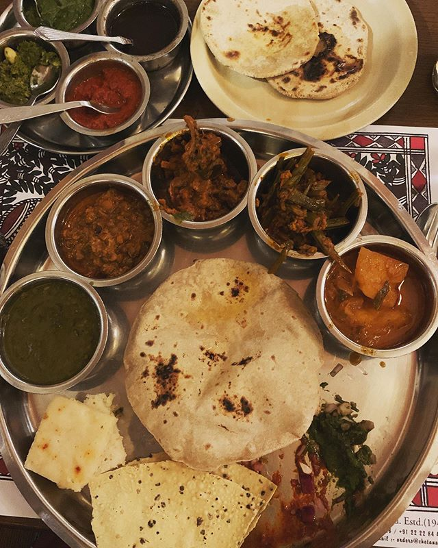 And just like that...it happened. Face to face with my first Thali platter in India. A deeply profound, unctuous and distending experience. Spiritual. Meal time = multiple opportunities each day to be delighted and moved.