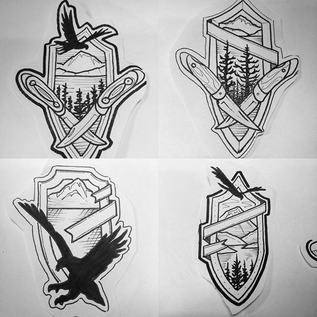 #nature #undertheneedletattoo #tats #outdoors #tattoos #seattleartist #seattletattooer #seattle #pacificnorthwest #backcountry #badge #emblem