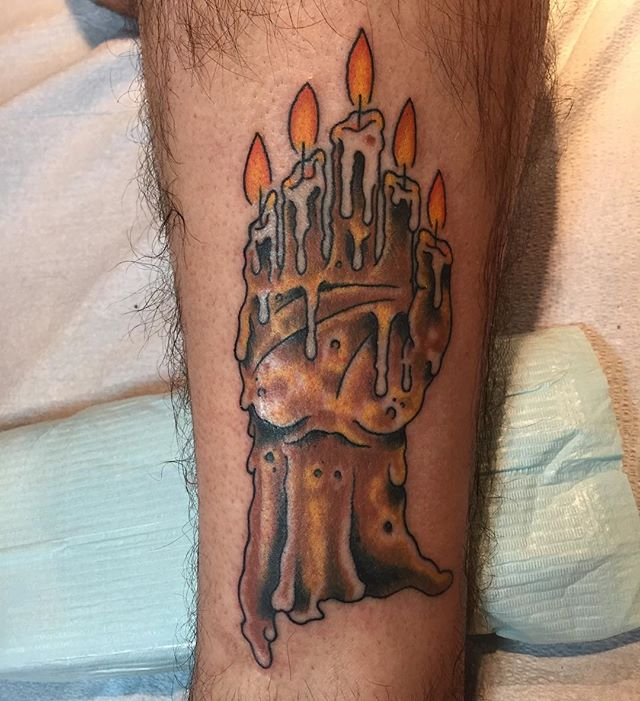 Hand of glory from my Halloween flash that I got to do thanks Steve you rule! So stoked to get to do it !