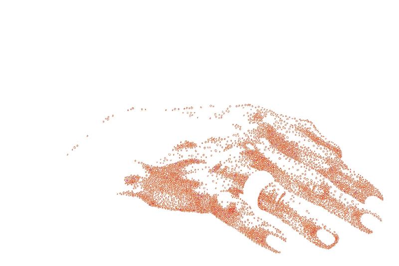hand in orange