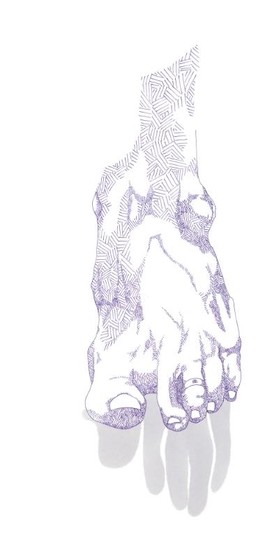 foot in purple