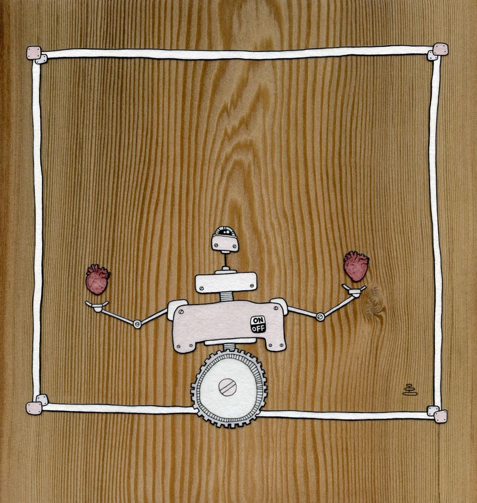 robot weighs hearts
