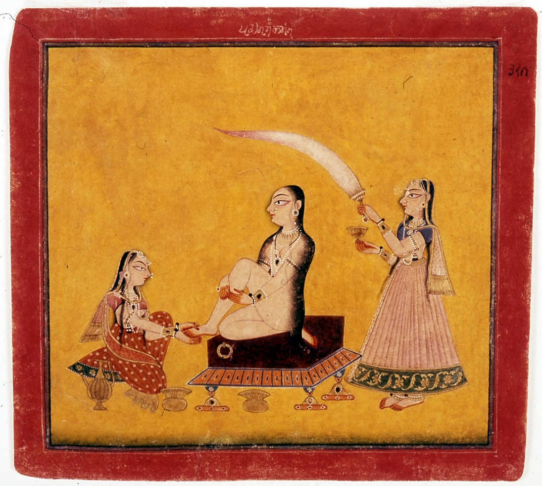Indian_-_A_Lady_at_Her_Toilette_-_Walters_W878.jpg