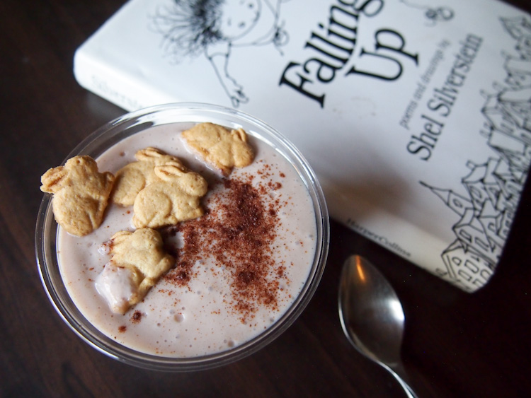 Breakfast: Banana tofu pudding with graham crackers