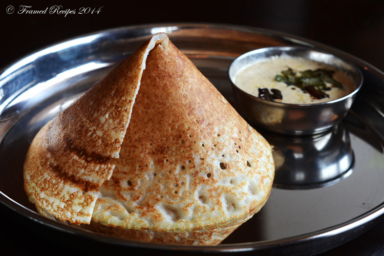 Dosa is a popular South Indian breakfast