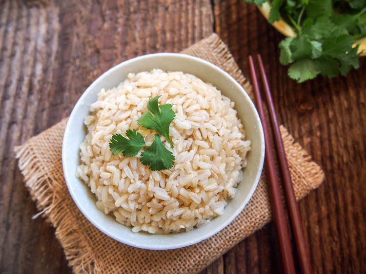 Coconut Oil Jasmine Rice | vermilionroots.com. Coconut oil gives the rice a fragrant nutty flavor and a potential calorie-reduction effect, according to recent research, if you let it chill in the refrigerator for at least 12 hours before serving.