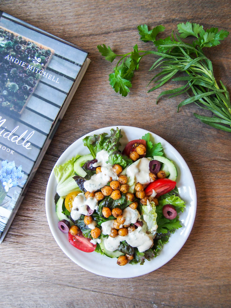Chopped Salad with Spiced Chickpeas | vermilionroots.com.