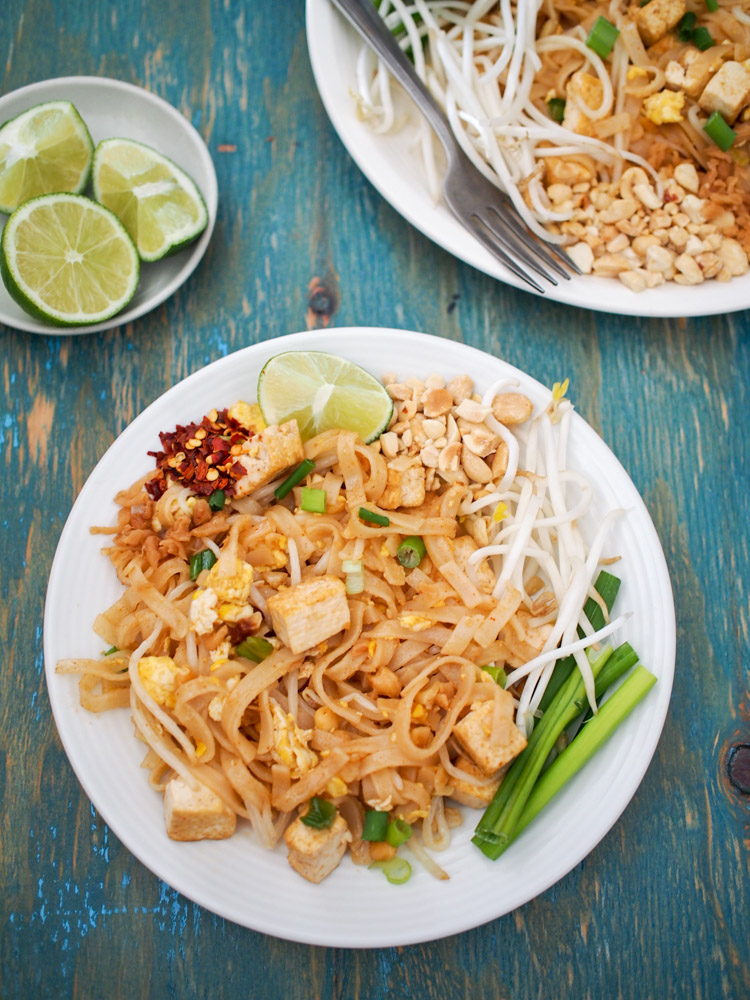 Vegetarian Pad Thai With Fishless Fish Sauce Vermilion Roots