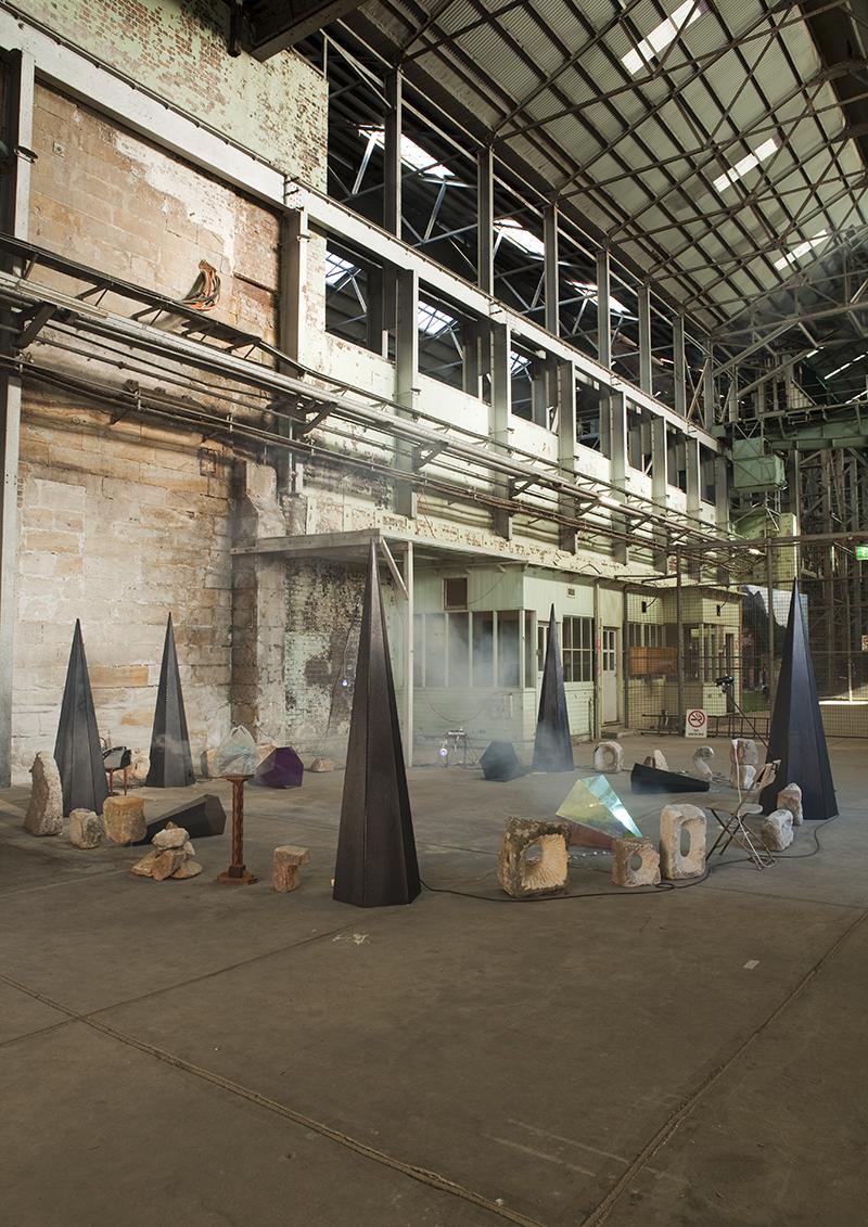 Mikala Dwyer, An Apparition of a Subtraction, 2010 | 17th Biennale of Sydney, curated by David Elliot, Cockatoo Island, Sydney