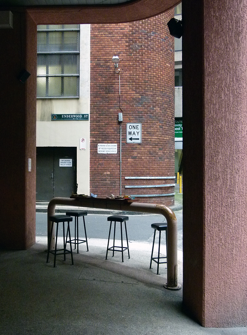 Mikala Dwyer, Milk and the Town that was Mad, 2010, Laneways Project, Sydney City Council, Sydney