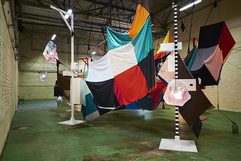 Mikala Dwyer, Square Cloud Compound   Magnetism, 2015, Hazelwood, Sligo, Ireland