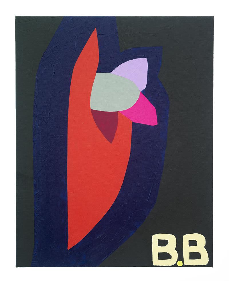 Mikala Dwyer, BB, 2016, acrylic on linen, 50 x 40cm