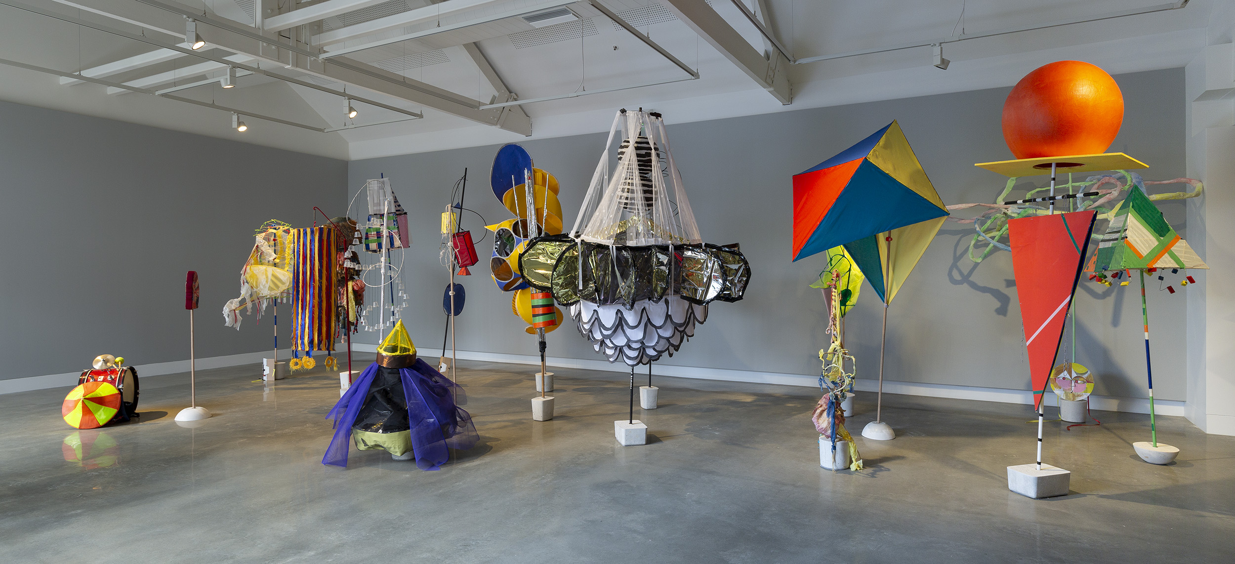 Mikala Dwyer and Justene Williams, Mondspiel (Moon Play), 2019, featuring works by students from VCA, QCA and RMIT, Bauhaus Now!, curated by Ann Stephen, Buxton Contemporary, Melbourne