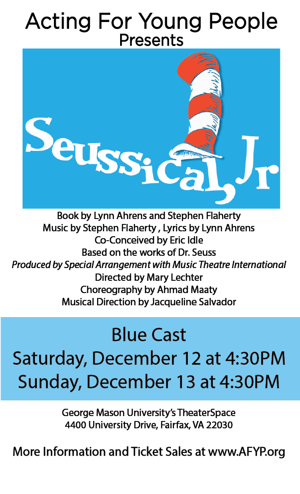 Seuss Blue Poster