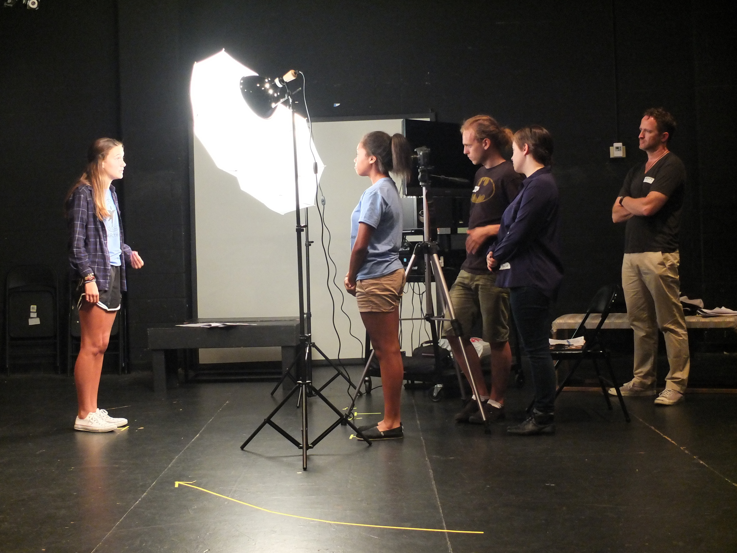 Filming a student's commercial