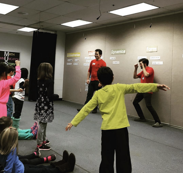 """Students playing, one of our favorite short form improv games, """"I'm a...""""!"""