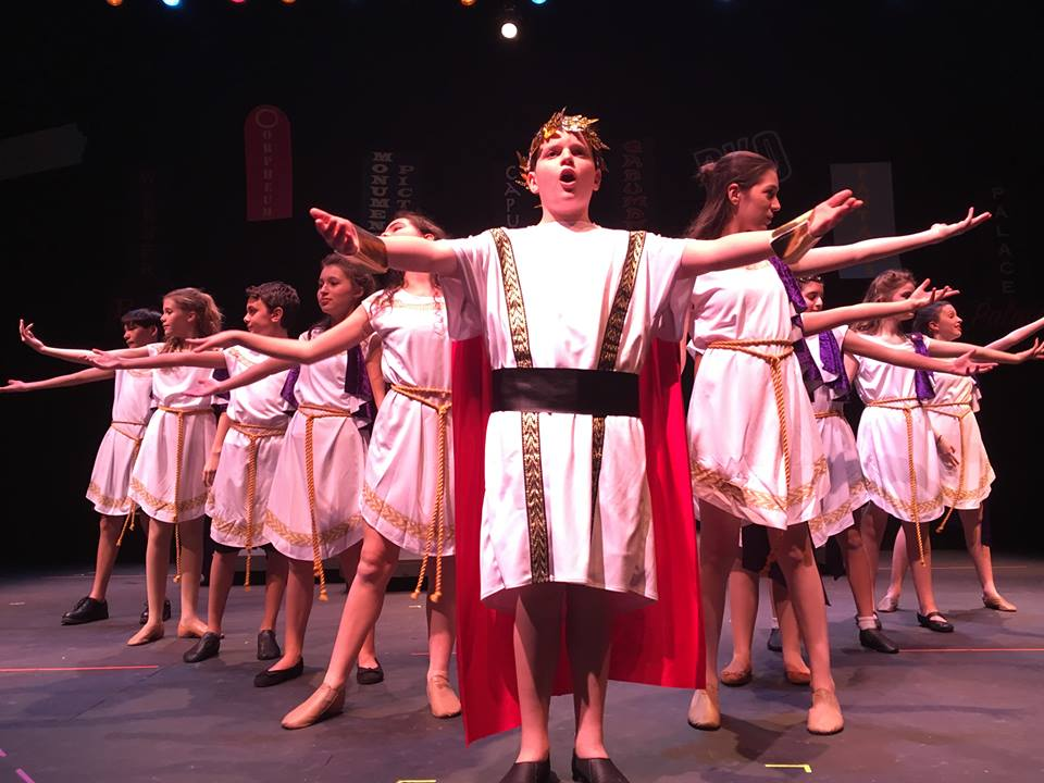 AFYP's Advanced Actors perform a musical number in last fall's  Billy Shakes and the Big Screen