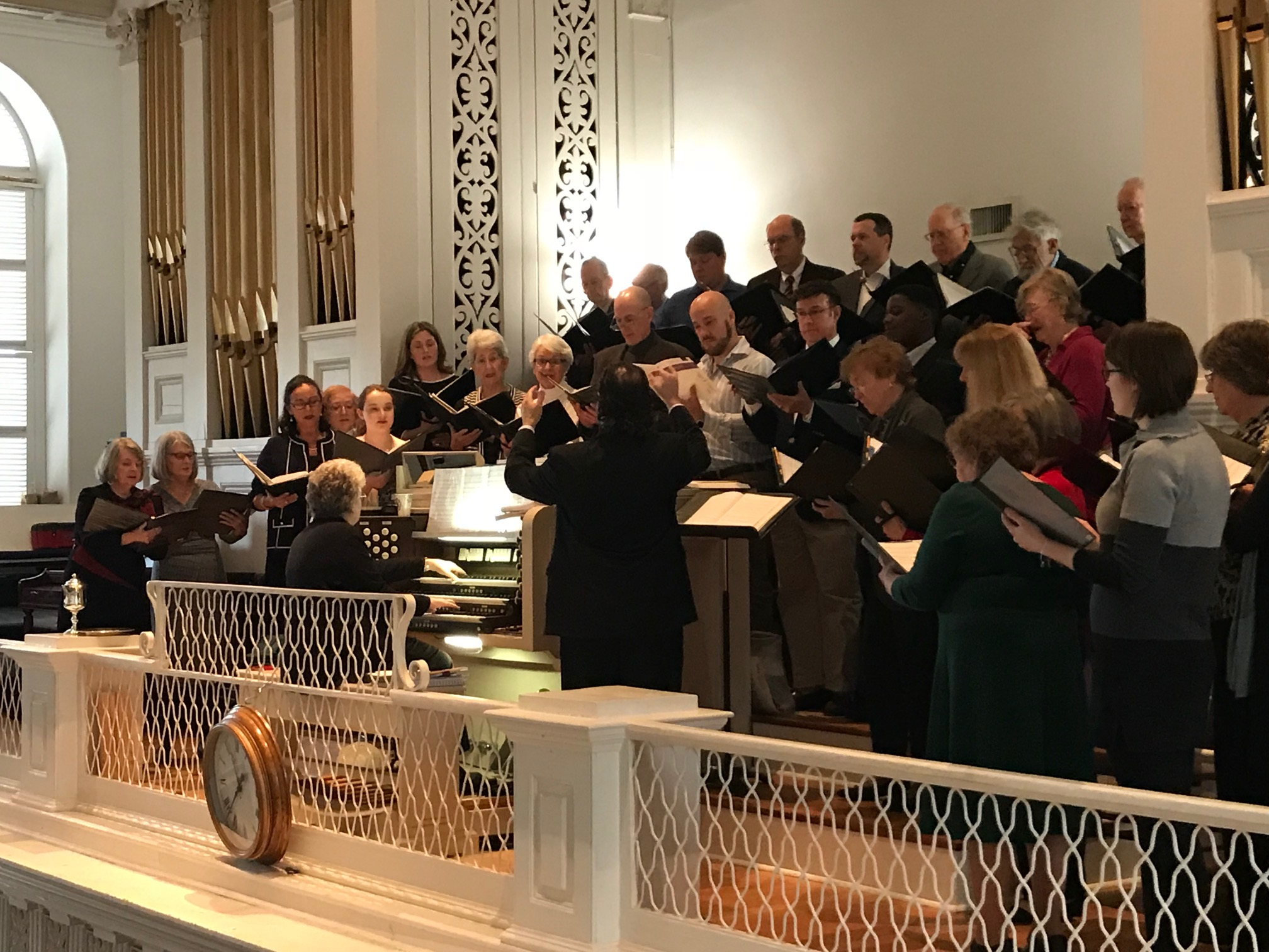 First Scots' Choir and Second Presbyterian Choirs sing together on February 4, 2018