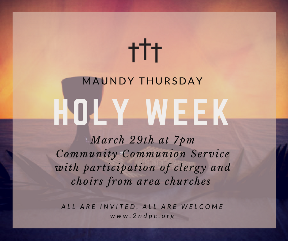 Maundy Thursday March 29th