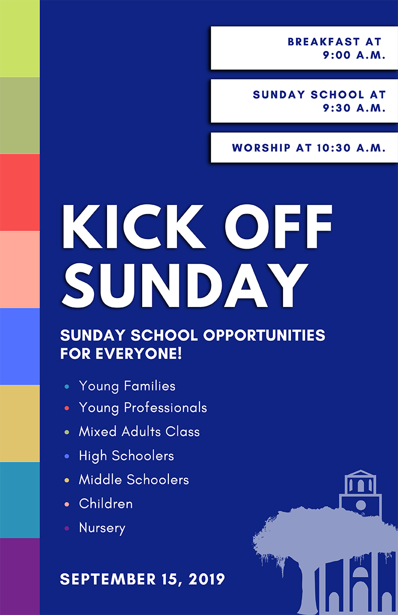 Meeting people at their point of need on Sunday mornings with renewed Sunday School opportunities for everyone