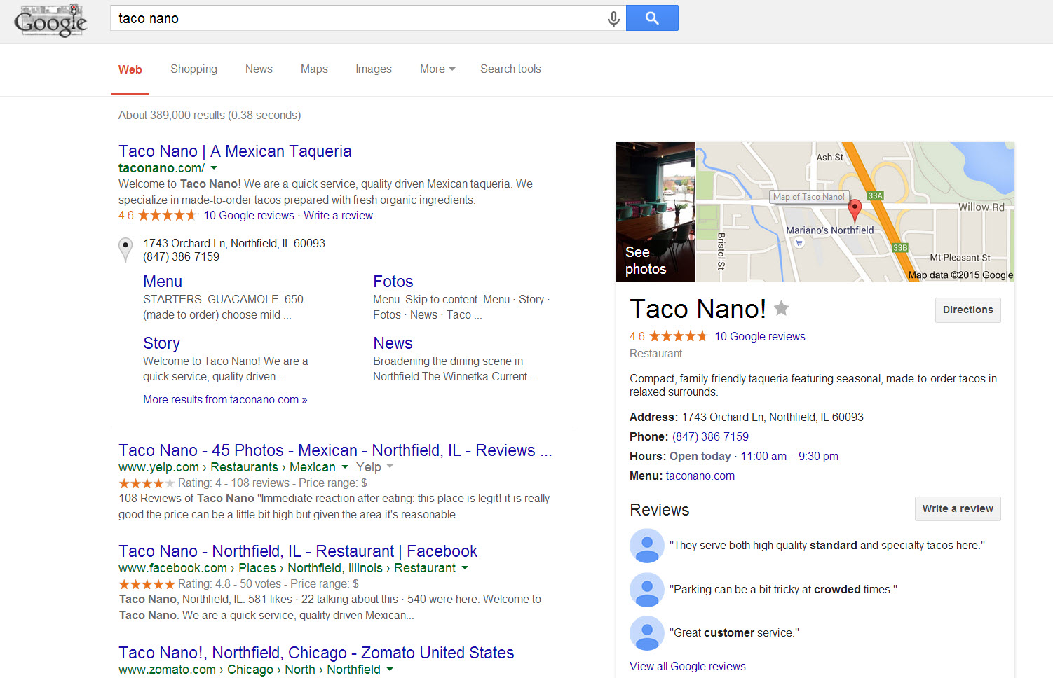 taco nano google