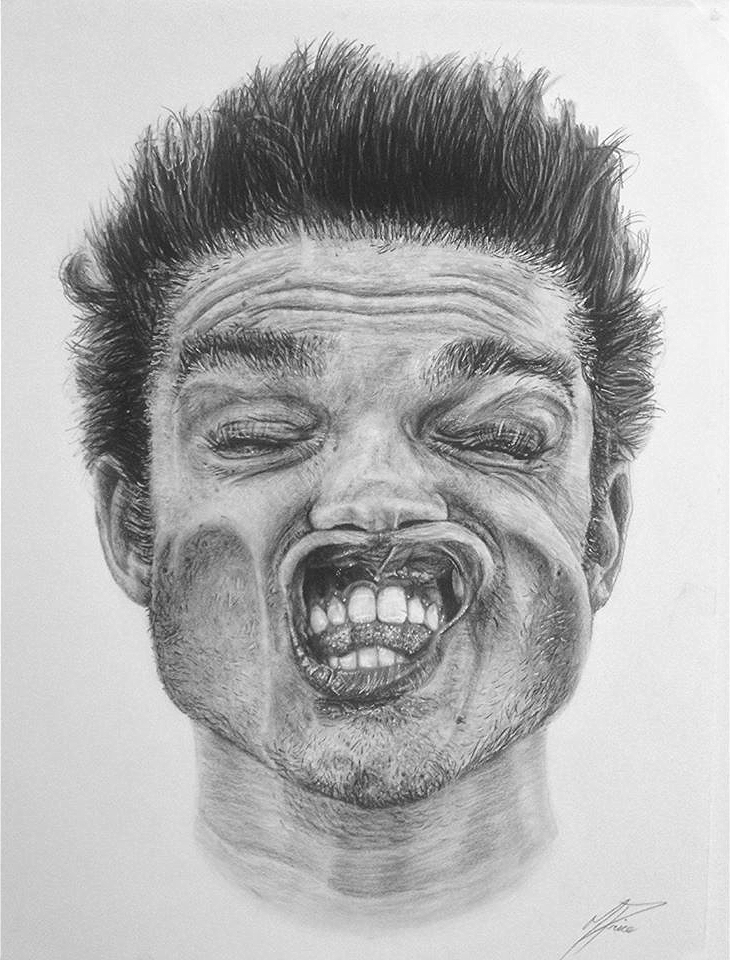 Copy of Self Portrait - Face x Leaf Blower