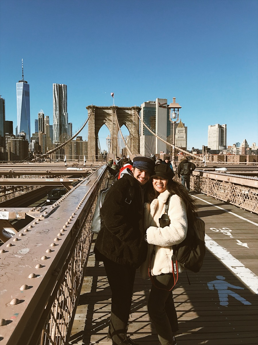 We went to go walk off our breakfast over the Brooklyn Bridge. It's a little over 1 mile to walk the whole thing.
