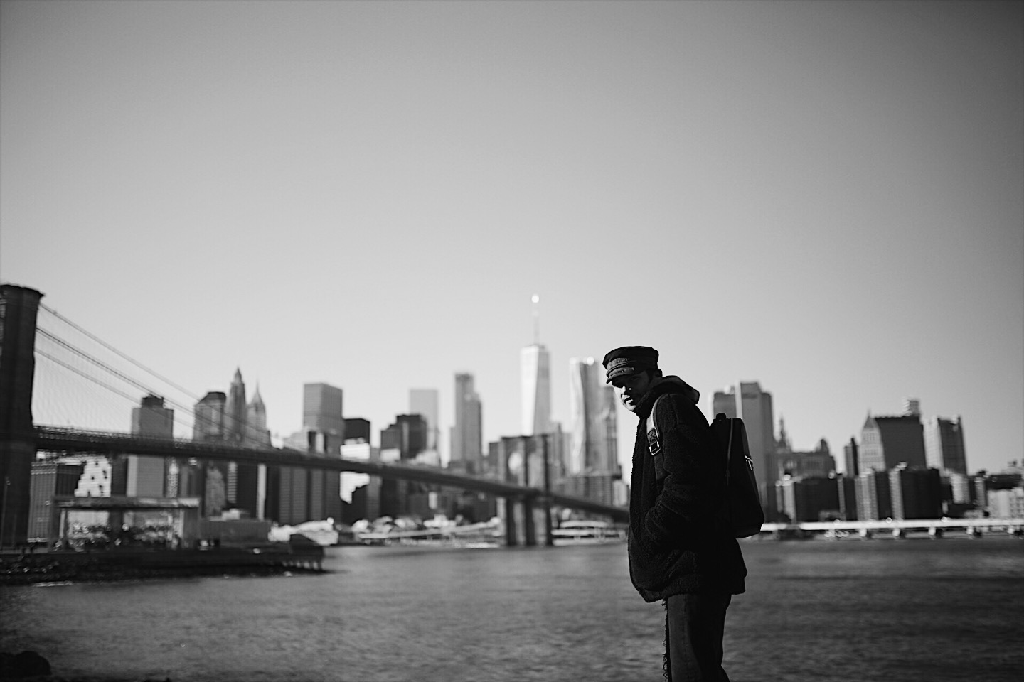 What a view. We cruised around DUMBO and froze our buns off.