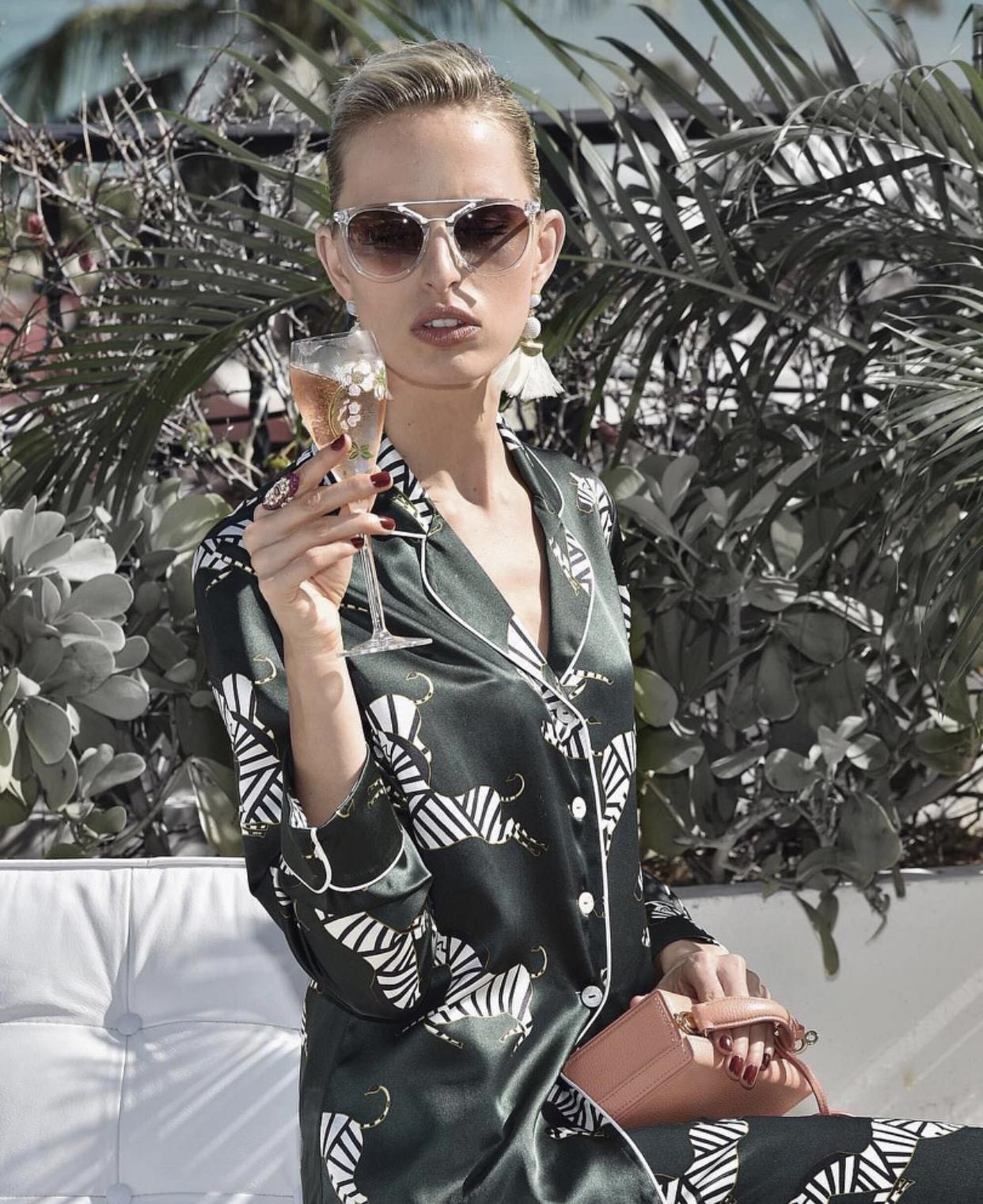 Karolina Kurkova wearing 'CRYSTAL'.