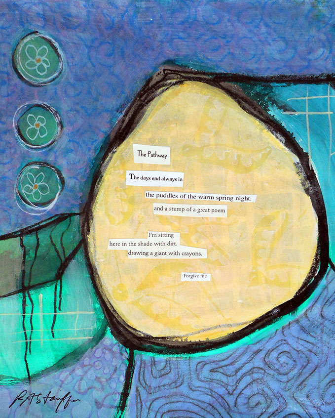 acrylic poem collage