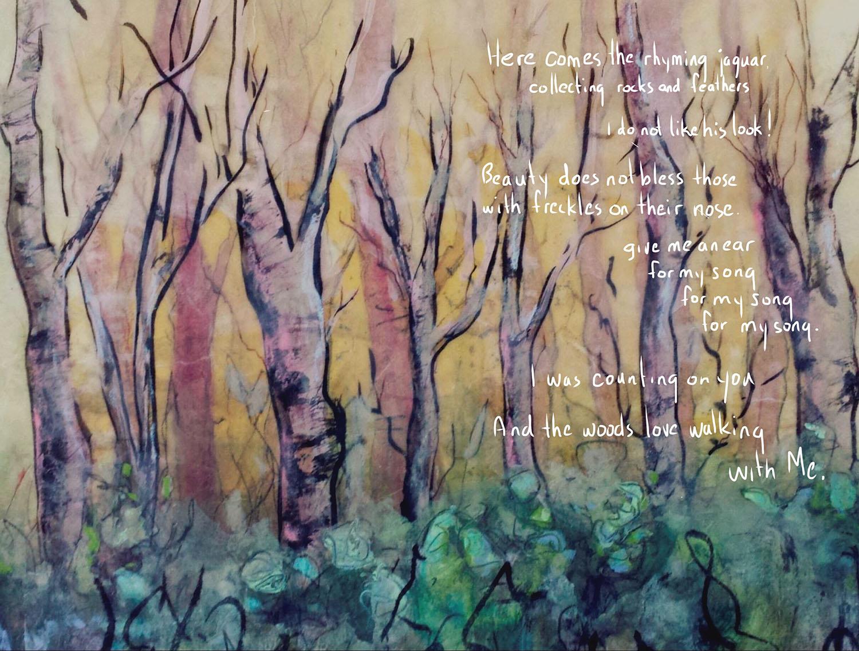 encaustic poem collage