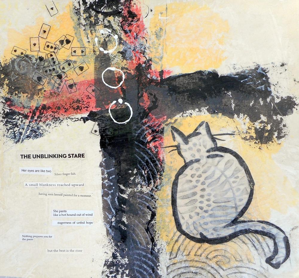 acrylic collage poem