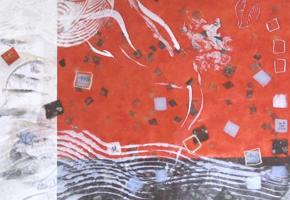 encaustic collage monotype