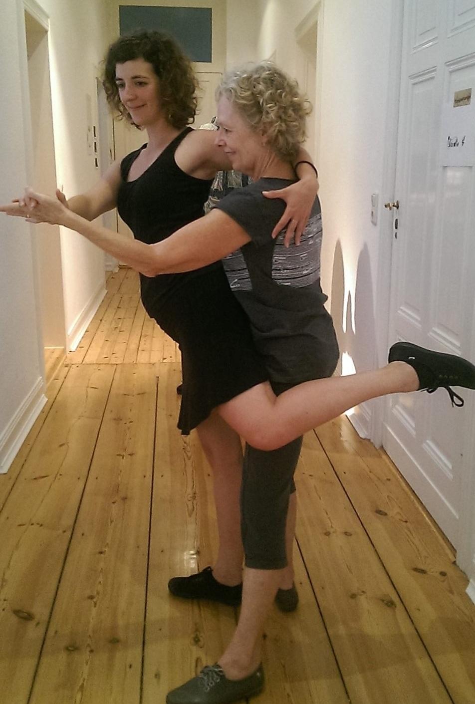 dance practice in the hall studio