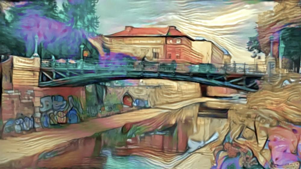 Vienna bridge x Hundertwasser painting