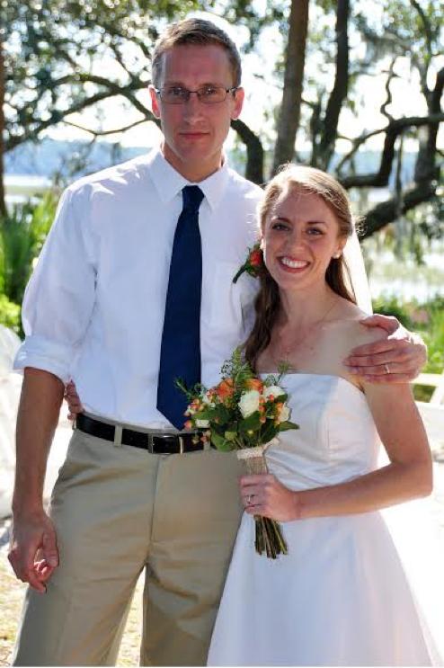 With spouse, Rebekah Glatze