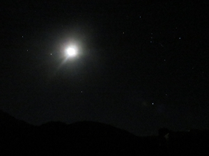 Orion and the Full Moon, captured on my camera