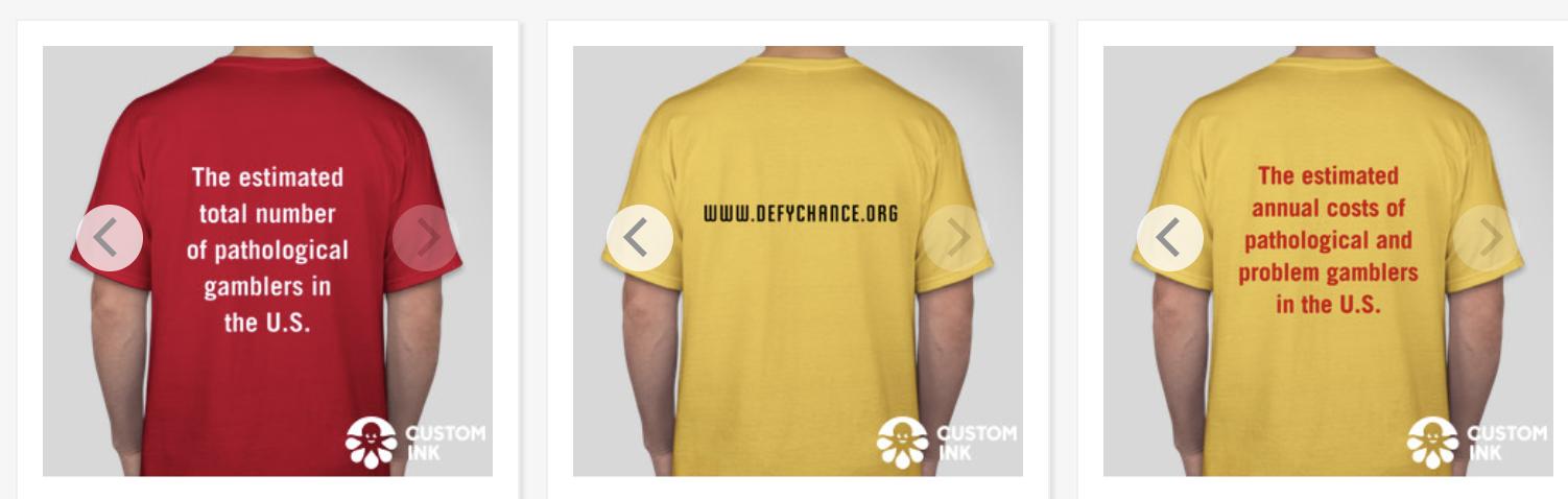 T-shirt backs