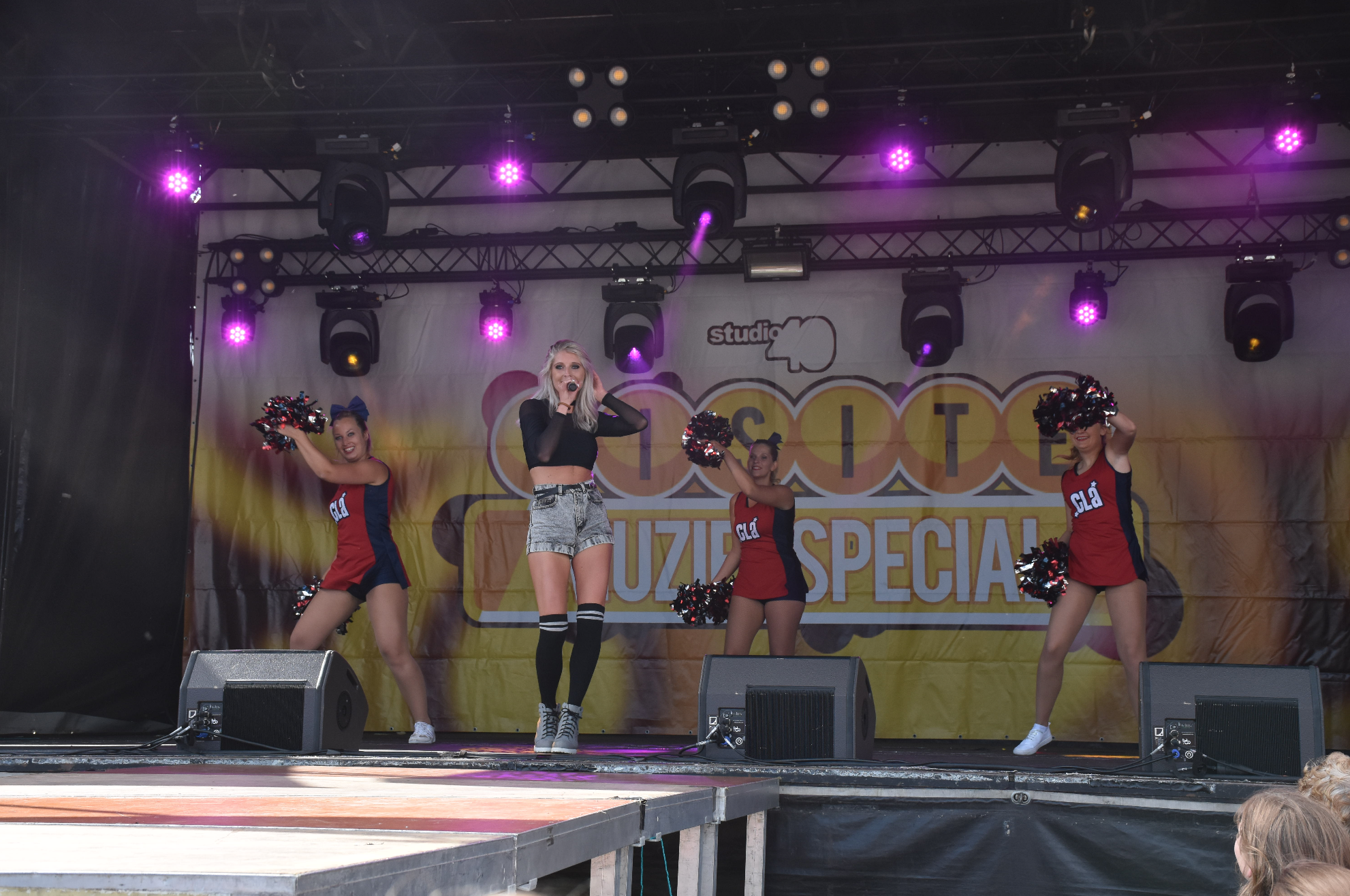 Live on stage with my CLA cheerleaders