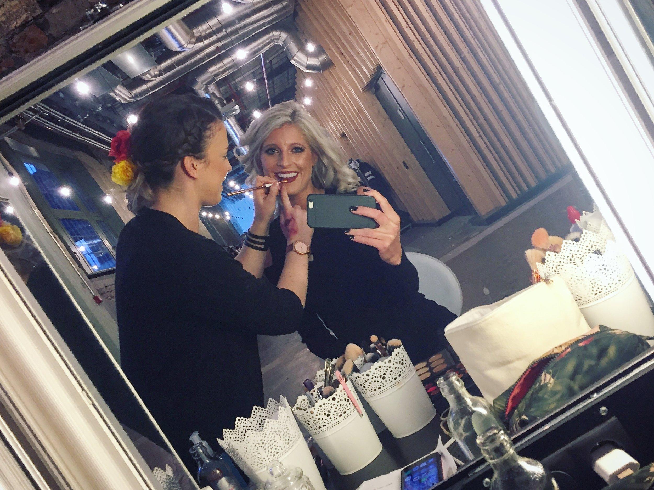 Fashion show backstage getting ready